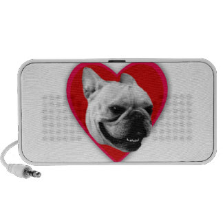 Valentine's French Bulldog PC Speakers