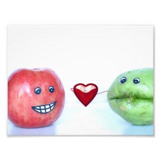 Valentines funny fruit photo art