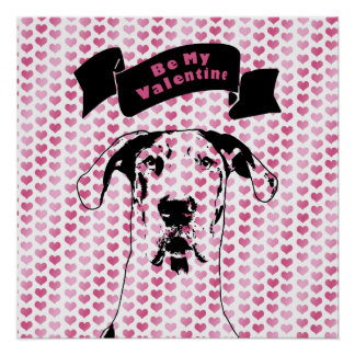 Valentines - Great Dane Silhouette - Baron Posters
