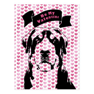 Valentines - Greater Swiss Mountain Dog Silhouette Postcard