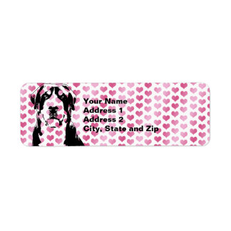 Valentines - Greater Swiss Mountain Dog Silhouette Return Address Label