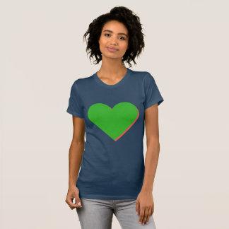Valentine's Green Pink Heart T-Shirt