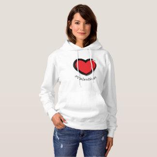 """""""#Valentines"""" Heart Hoodie"""