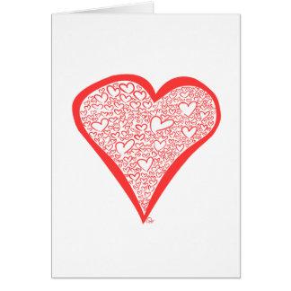 Valentine's Hearts Card