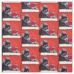 Valentine's Husky dog Fabric