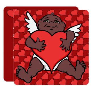 Valentine's Invitations African Cupid Cards Custom