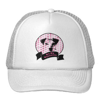 Valentines - Jack Russell Silhouette Mesh Hat