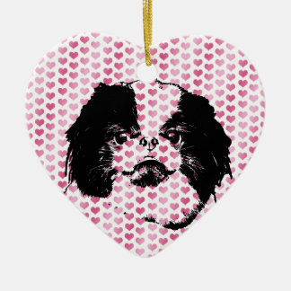Valentines - Japanese Chin Silhouette Christmas Tree Ornaments