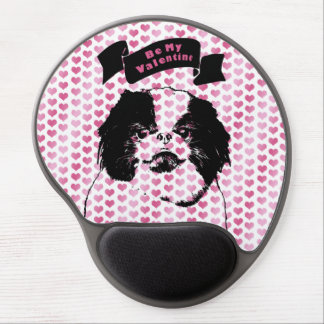 Valentines - Japanese Chin Silhouette Gel Mousepad