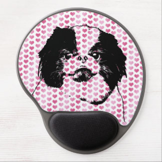 Valentines - Japanese Chin Silhouette Gel Mouse Pad