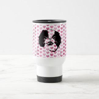 Valentines - Japanese Chin Silhouette Coffee Mugs