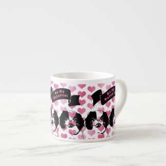 Valentines - Japanese Chin Silhouette Espresso Cups