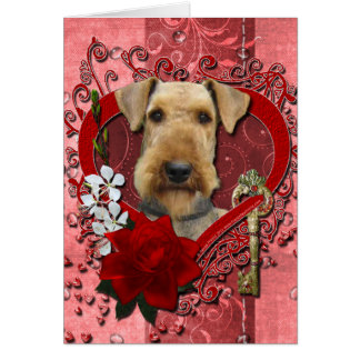 Valentines - Key to My Heart - Airedale Card