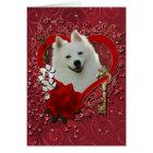 Valentines - Key to My Heart - American Eskimo Card