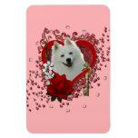 Valentines - Key to My Heart - American Eskimo Flexible Magnet