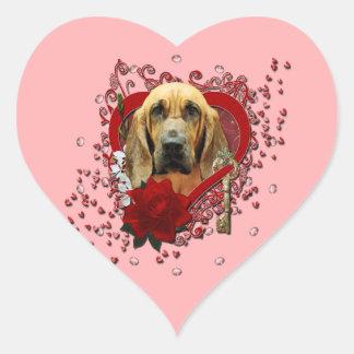 Valentines - Key to My Heart - Bloodhound - Penney Heart Sticker