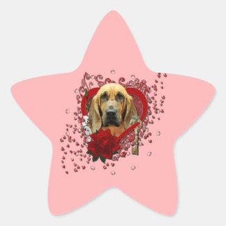 Valentines - Key to My Heart - Bloodhound - Penney Star Sticker