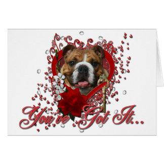 Valentines - Key to My Heart - Bulldog Card