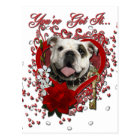 Valentines - Key to My Heart - Bulldog Postcard