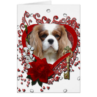 Valentines - Key to My Heart - Cavalier - Light Greeting Card