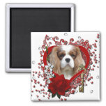 Valentines - Key to My Heart - Cavalier - Light Square Magnet