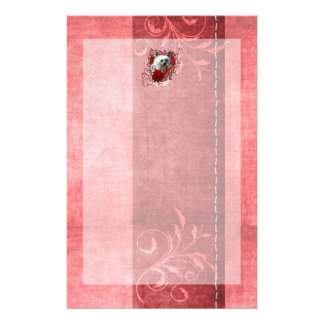 Valentines - Key to My Heart - Chinese Crested Customized Stationery
