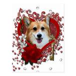 Valentines - Key to My Heart - Corgi - Owen
