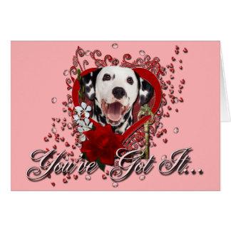 Valentines - Key to My Heart - Dalmatian Card