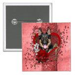 Valentines - Key to My Heart -German Shepherd Kuno Pin