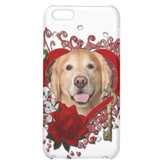 Valentines - Key to My Heart - Golden Retriever - Case For iPhone 5C