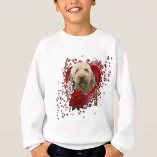Valentines - Key to My Heart - GoldenDoodle Sweatshirt