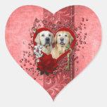 Valentines - Key to My Heart - Goldens - Corona Te Sticker