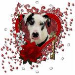 Valentines - Key to My Heart -Great Dane Harlequin Standing Photo Sculpture
