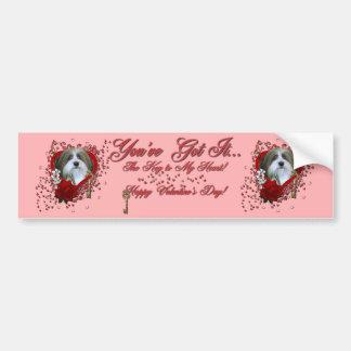 Valentines - Key to My Heart - Havenese Bumper Sticker