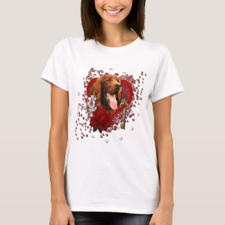Valentines - Key to My Heart - Irish Setter T-Shirt