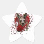 Valentines - Key to My Heart - Kangaroo Star Sticker