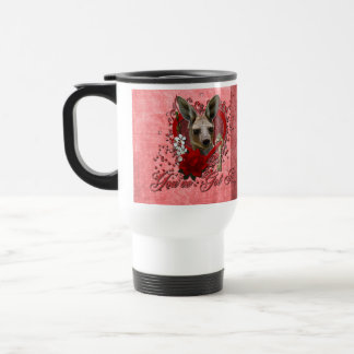 Valentines - Key to My Heart - Kangaroo Travel Mug