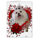 Valentines - Key to My Heart - Maltese Card