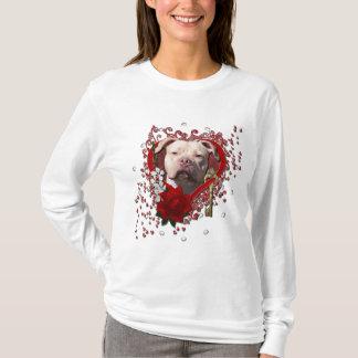 Valentines - Key to My Heart - Pitbull Jersey Girl T-Shirt
