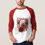 Valentines - Key to My Heart - Pitbull Jersey Girl Tee Shirts