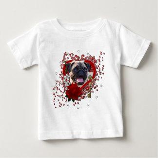 Valentines - Key to My Heart - Pug Baby T-Shirt