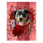 Valentines - Key to My Heart - Rottweiler Postcard