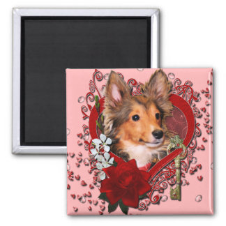 Valentines - Key to My Heart - Sheltie - Cooper Square Magnet