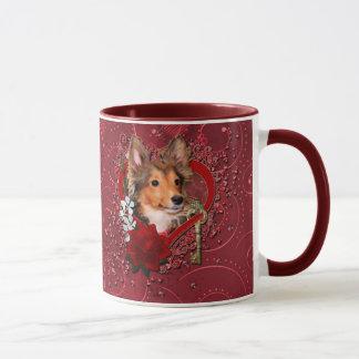 Valentines - Key to My Heart - Sheltie - Cooper Mug