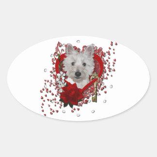 Valentines - Key to My Heart - Westie - Tank Stickers