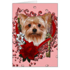 Valentines - Key to My Heart - Yorkshire Terrier Card