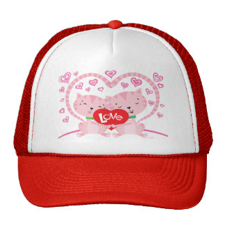 Valentines Kittens Cap