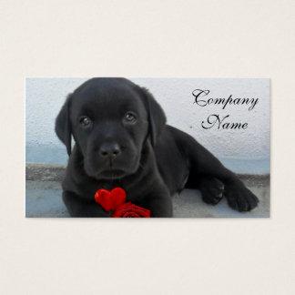 Valentine's labrador puppy business card