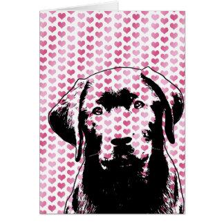 Valentines - Labrador Silhouette Greeting Card