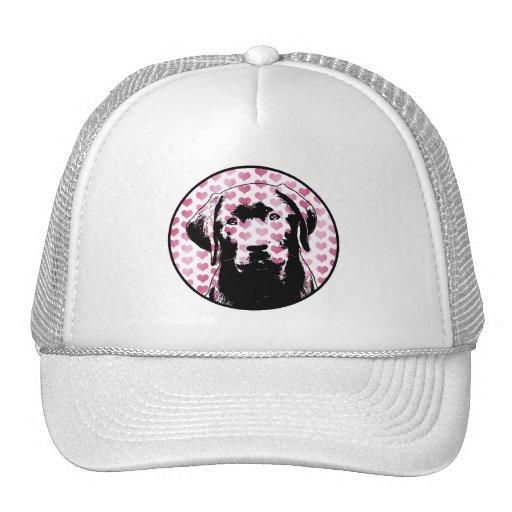 Valentines - Labrador Silhouette Hat
